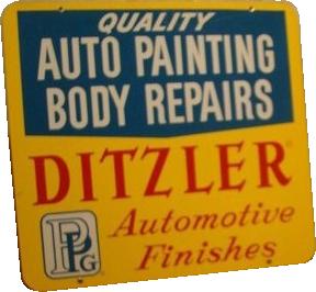 248 Ditzler Automotive Finishes Porcelain Sign