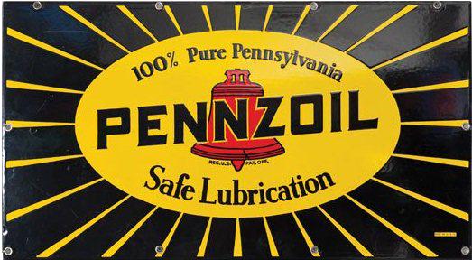 25 Pennzoil Lubrication Porcelain Sign 1