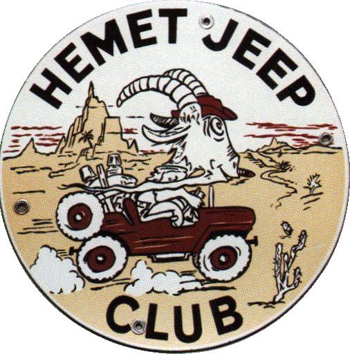 250 Hemet Jeep Club Porcelain Sign 1
