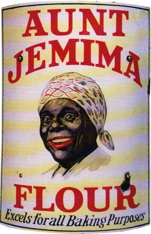 257 Aunt Jemima Flour Porcelain Sign 1