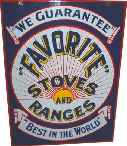 258 Favorite Stove And Ranges Porcelain Sign 1