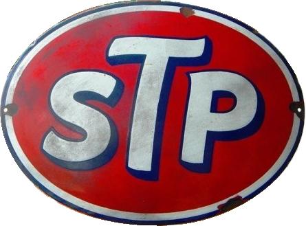 26 STP Red And Blue Porcelain Sign