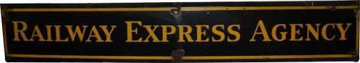 260 Railway Express Agency Long Horizontal Porcelain Sign