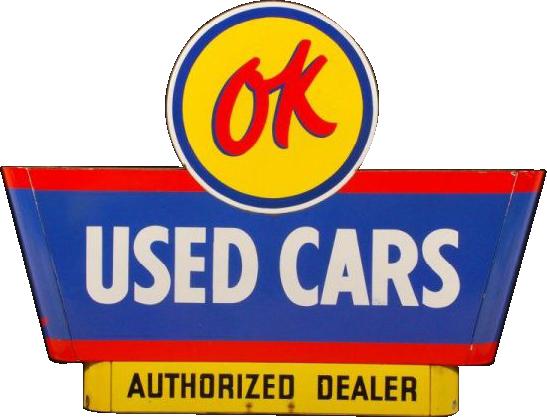 263 Ok Used Cars Porcelain Sign 1