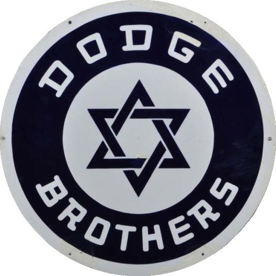264 Dodge Brothers Star Of David Round Porcelain Sign