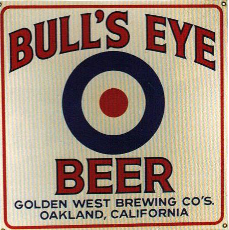 266 Bulls Eye Beer Porcelain Sign 1