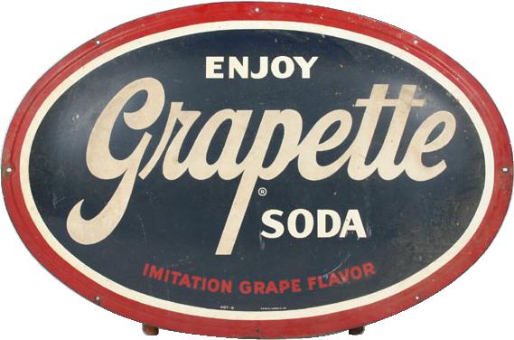 268 Grapette Soda Porcelain Sign 1