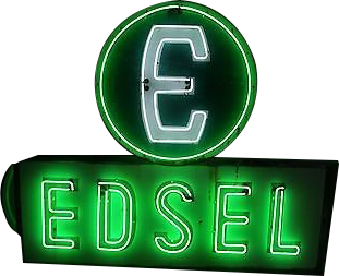 269 Edsel Ford Neon Porcelain Sign