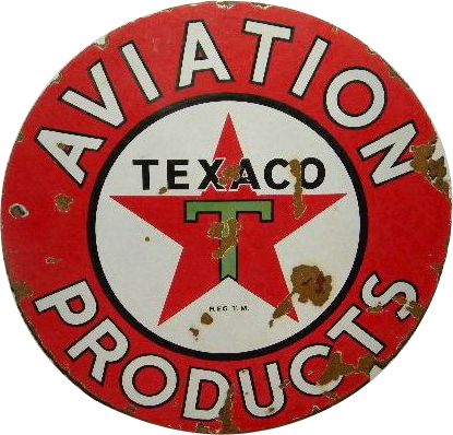 272 Texaco Aviation Products Porcelain Sign 1