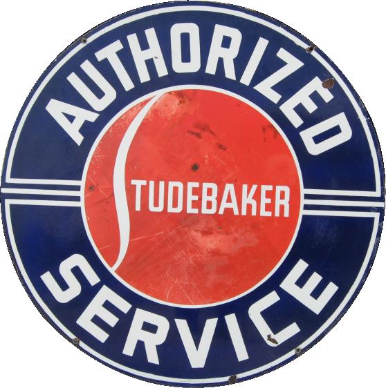 279 Studebaker Authorized Service Porcelain Sign 1