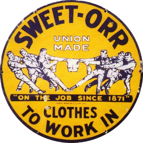 284 Sweet Orr Union Made Clothes Porcelain Sign 1