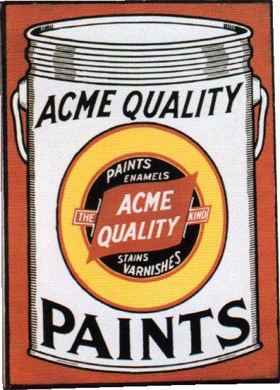286 Acme Quality Paints Porcelain Sign 1