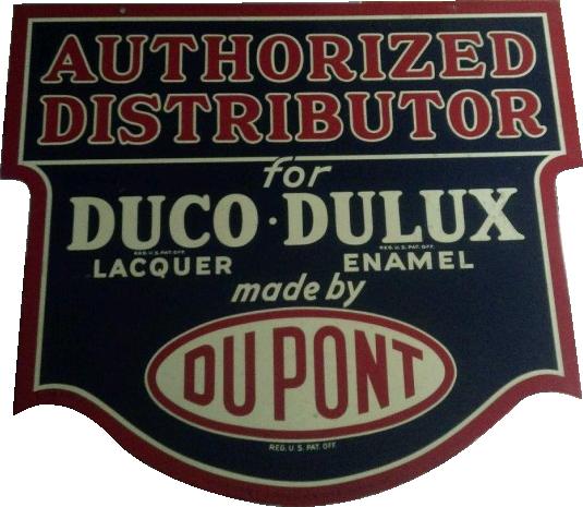 288 Dupont Duco Dulux Authorized Dealer Porcelain Sign