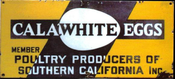 291 Calawhite Eggs Porcelain Sign 1