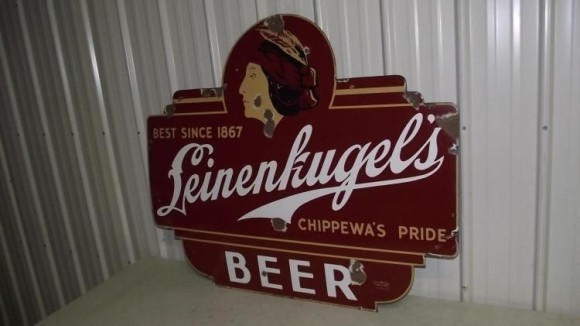 293 Leinenkugels Chippewas Pride Beer Neon Porcelain Sign