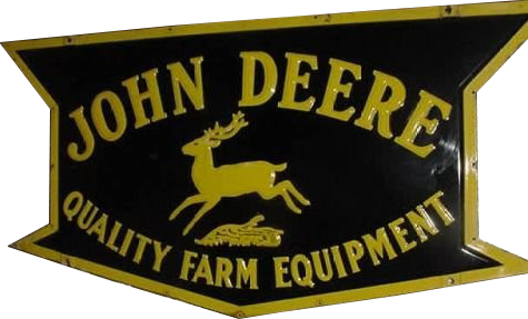 4 John Deere Quality Farm Equipment Die Cut