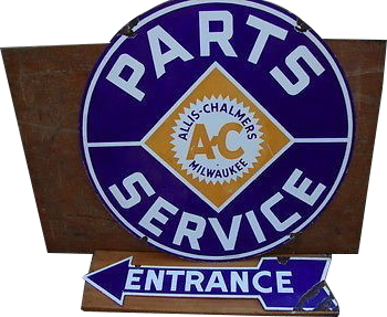 41 Allis Chalmers Milwaukee Parts And Service Round Porcelain Sign