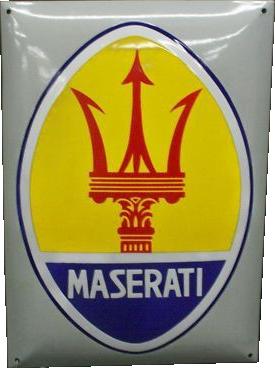 45 Maserati Automobiles Company Logo Porcelain Sign