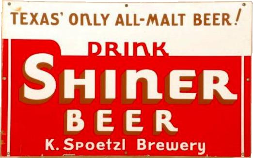 46 Shiner Beer Porcelain Sign 1