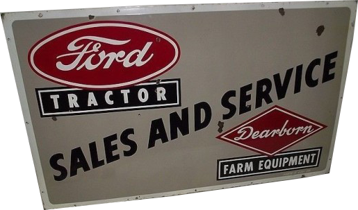 47 Ford Tractor Sales And Service Dearborn Porcelain Sign