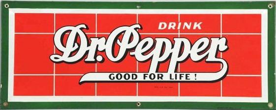 49 Drink Dr. Pepper Porcelain Sign 1