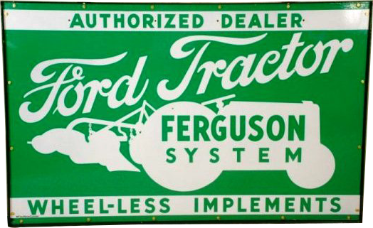 50 Ford Tractor Porcelain Sign 1