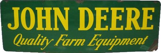 52 John Deere Quality Farm Equipment Porcelain Sign 1