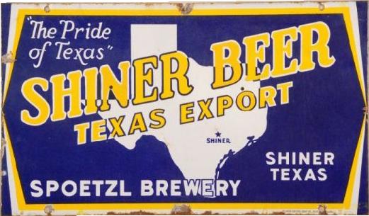 54 Shiner Beer Texas Export Porcelain Sign 1