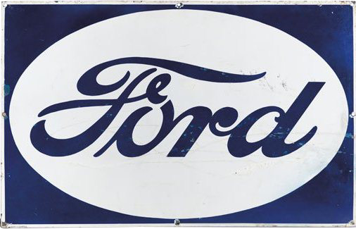 55 Ford Porcelain Sign 1