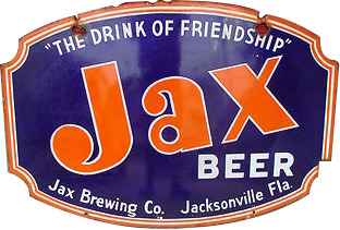 6 Jax Beer The Drink Of Friendship Oval Porcelain Sign
