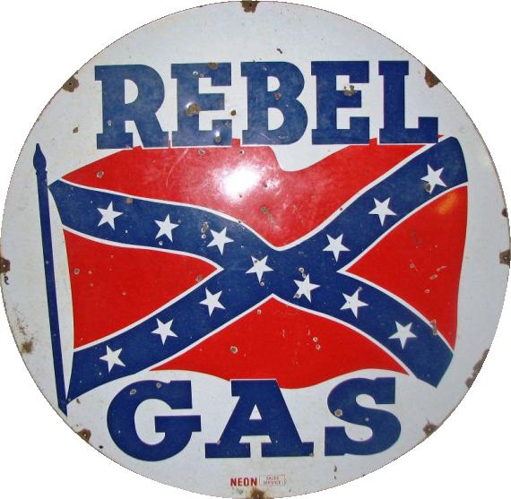 61 Rebel Gas Porcelain Sign 1
