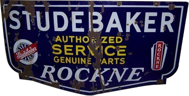 69 Studebaker Rockne Authorized Service Die Cut Porcelain Sign