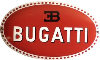 7 Bugatti Porcelain Sign 1