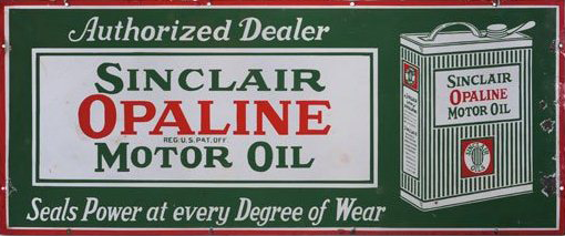 76 Sinclair Opaline Motor Oil Porcelain Sign 2