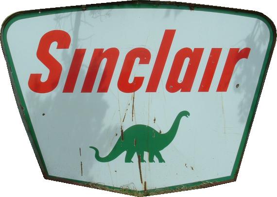 77 Sinclair Dino Porcelain Sign 1