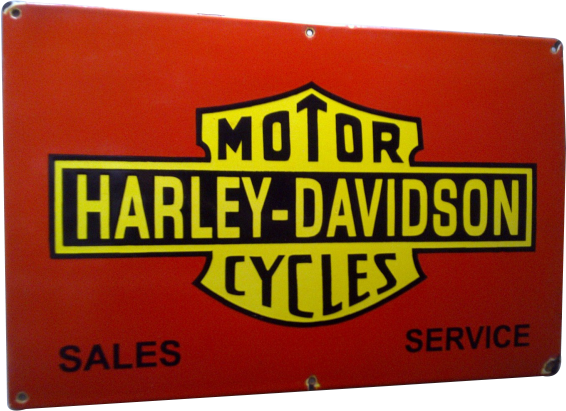 8 Harley Davidson Motorcycles Sale And Service Porcelain Sign 1