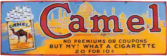 81 Camel Cigarettes Porcelain Sign 1