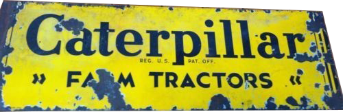 82 Caterpillar Farm Tractors Porcelain Sign