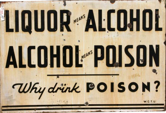 84 Prohibition Sign Why Drink Poison Porcelain Sign 1