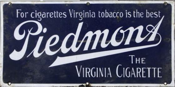 85 Piedmont Virginia Cigarettes Porcelain Sign 1