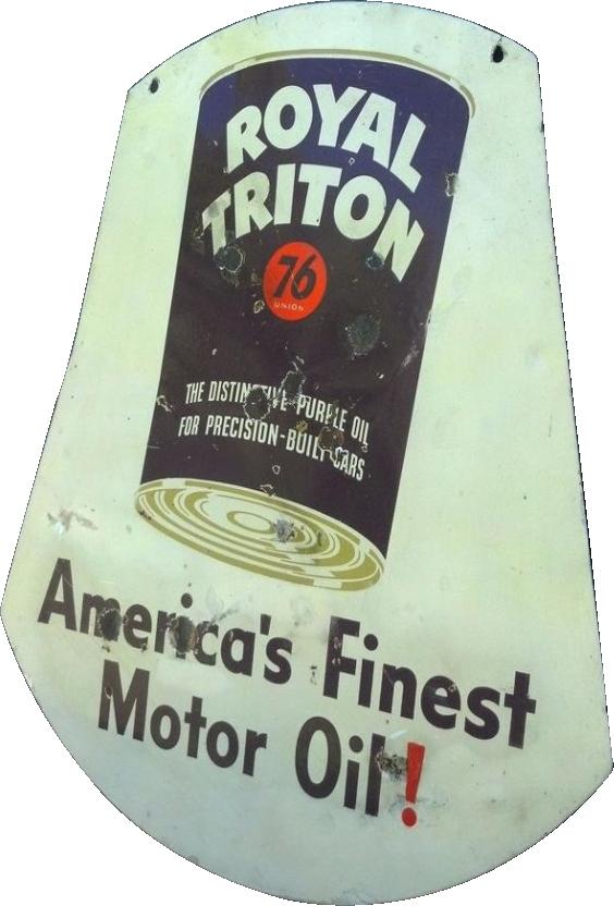90 Royal Triton Americas Finest Motor Oil Porcelain Sign