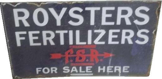 91 Royster Fertilizer For Sale Here Porcelain Sign