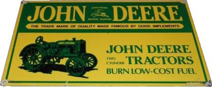 93 John Deere Old Tractor Porcelain Sign 1