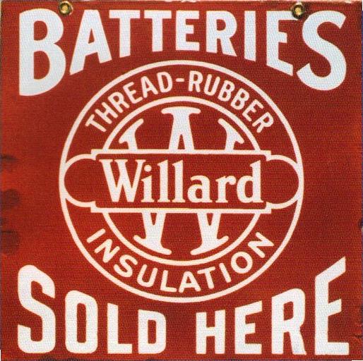 94 Willard Batteries Porcelain Sign 2