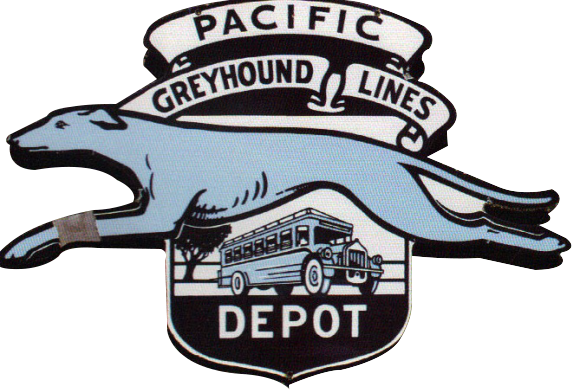 95 Pacific Greyhound Lines Porcelain Sign 1