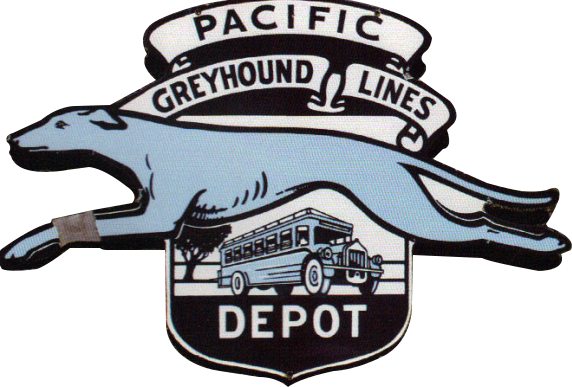 96 Pacific Greyhound Lines Porcelain Sign 1