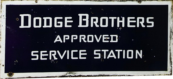 98 Dodge Brothers Porcelain Sign 1