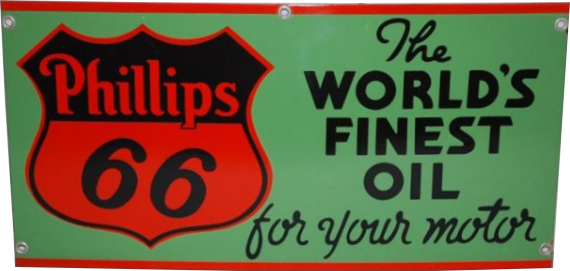 99 Phillips 66 Worlds Finest Oil Porcelain Sign 1